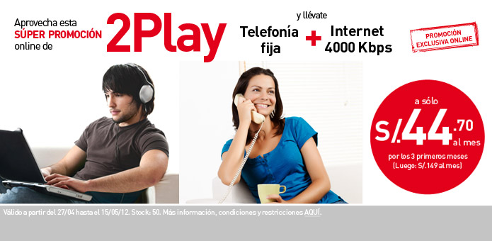 Claro 2Play Internet mas telfono residencial