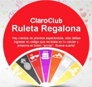 Ruleta Regalona Club Claro Peru