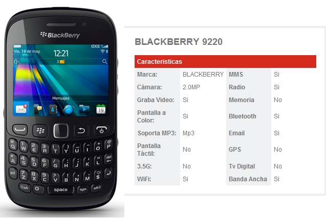 Blackberry 9220 de Claro