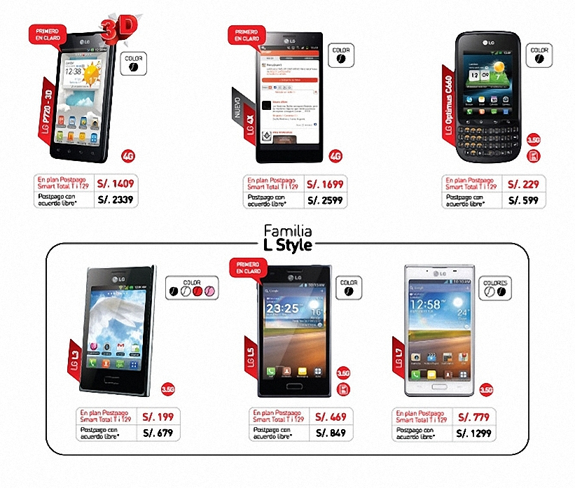 Smartphone LG de Claro
