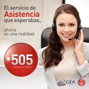 Nuevo servicio de asistencia de Claro Perú
