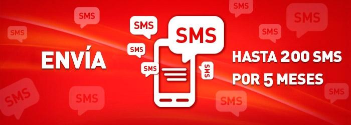 Hasta 200 SMS en 5 meses